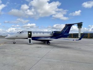 Phenom 300E at Naples Airport, Italy