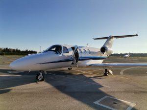 Cessna Citation CJ1 at Malaga Airport
